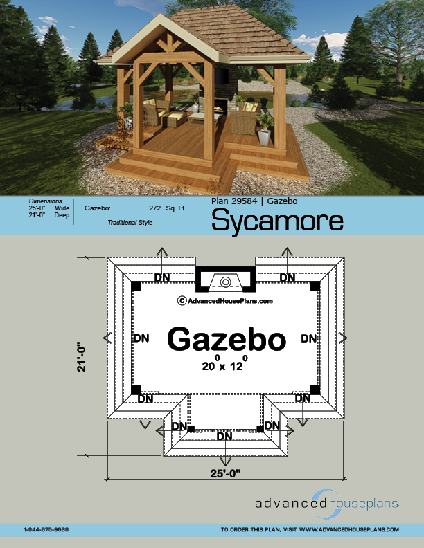 Gazebo Plan Sycamore Gazebo Plans Gazebo Architecture Plan