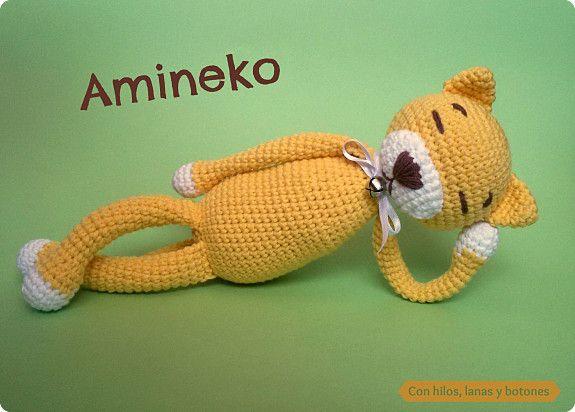 Amigurumi Patrones Gratis En Español : Patrón gratis amigurumi de gato amineko amigurumi