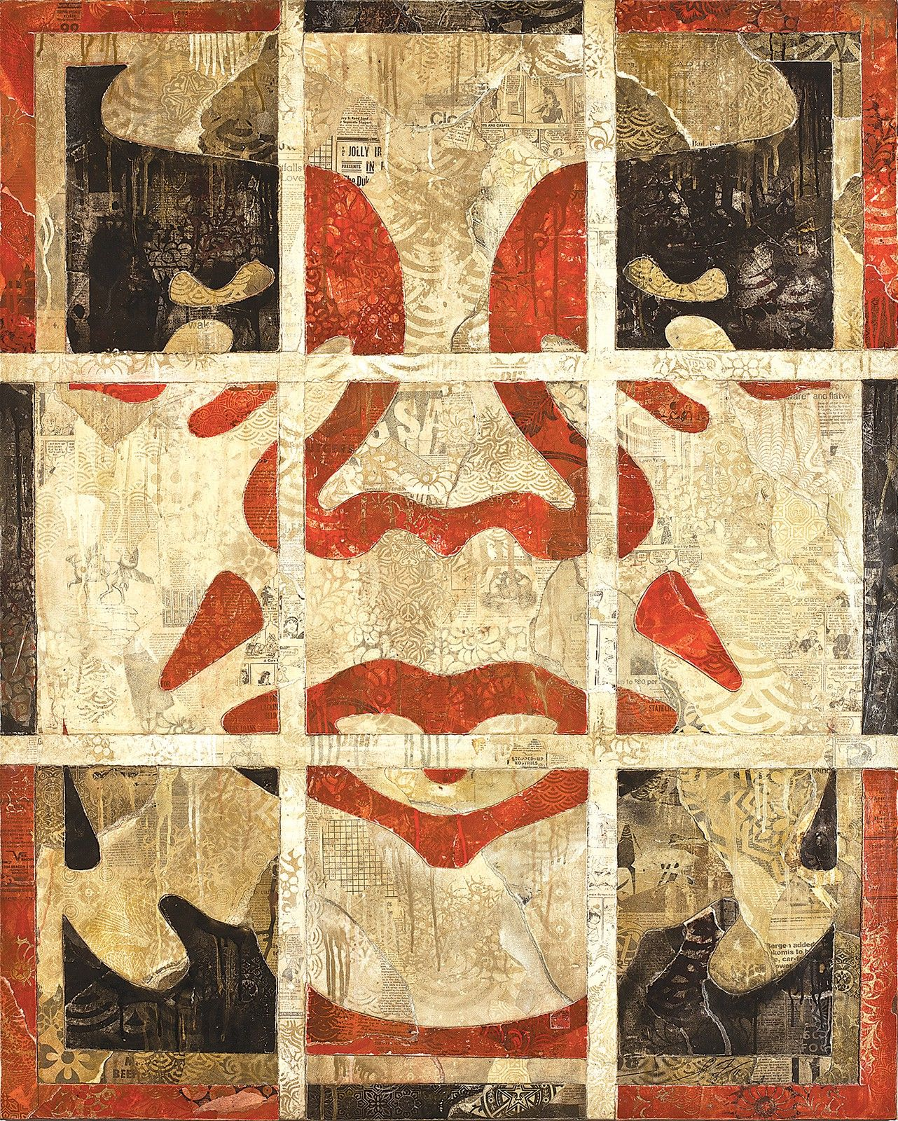 Repetition Works (Icon) Canvas / Shepard Fairey via obeygiant.com ...