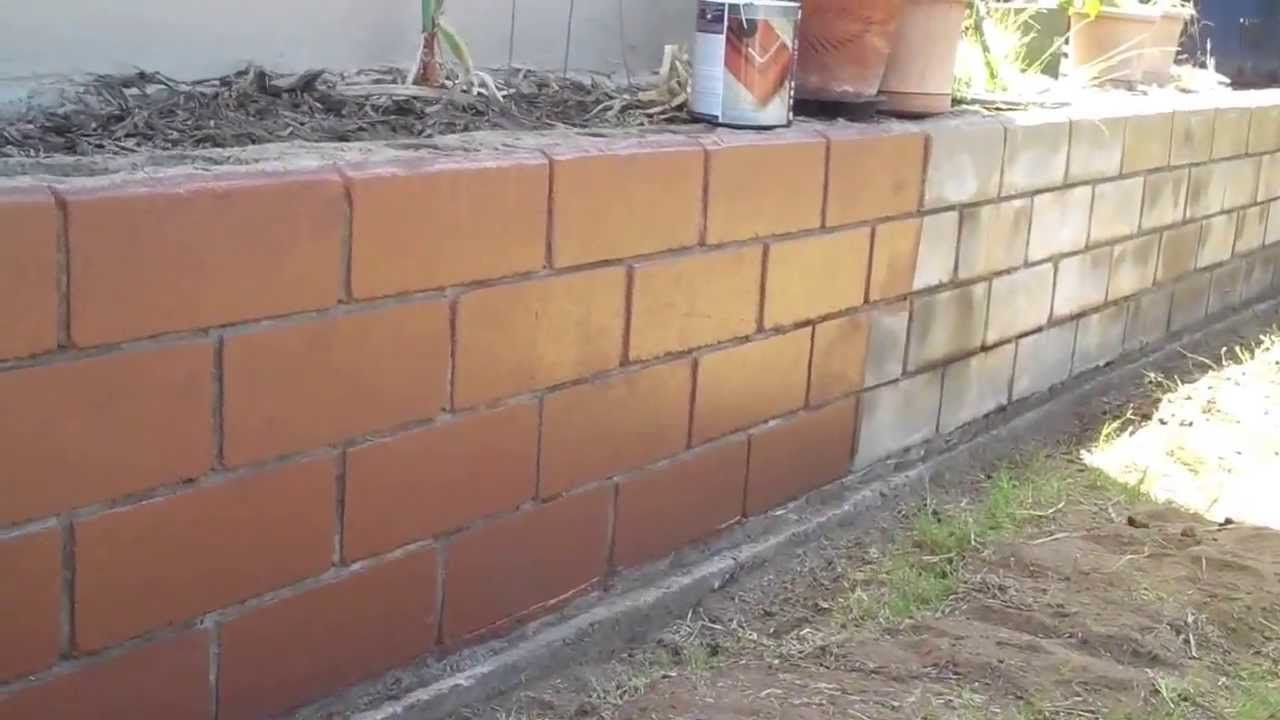 Deckover Concrete Block Wall Before And After Comparison Cinder Block Walls Concrete Block Walls Cinder Block Paint