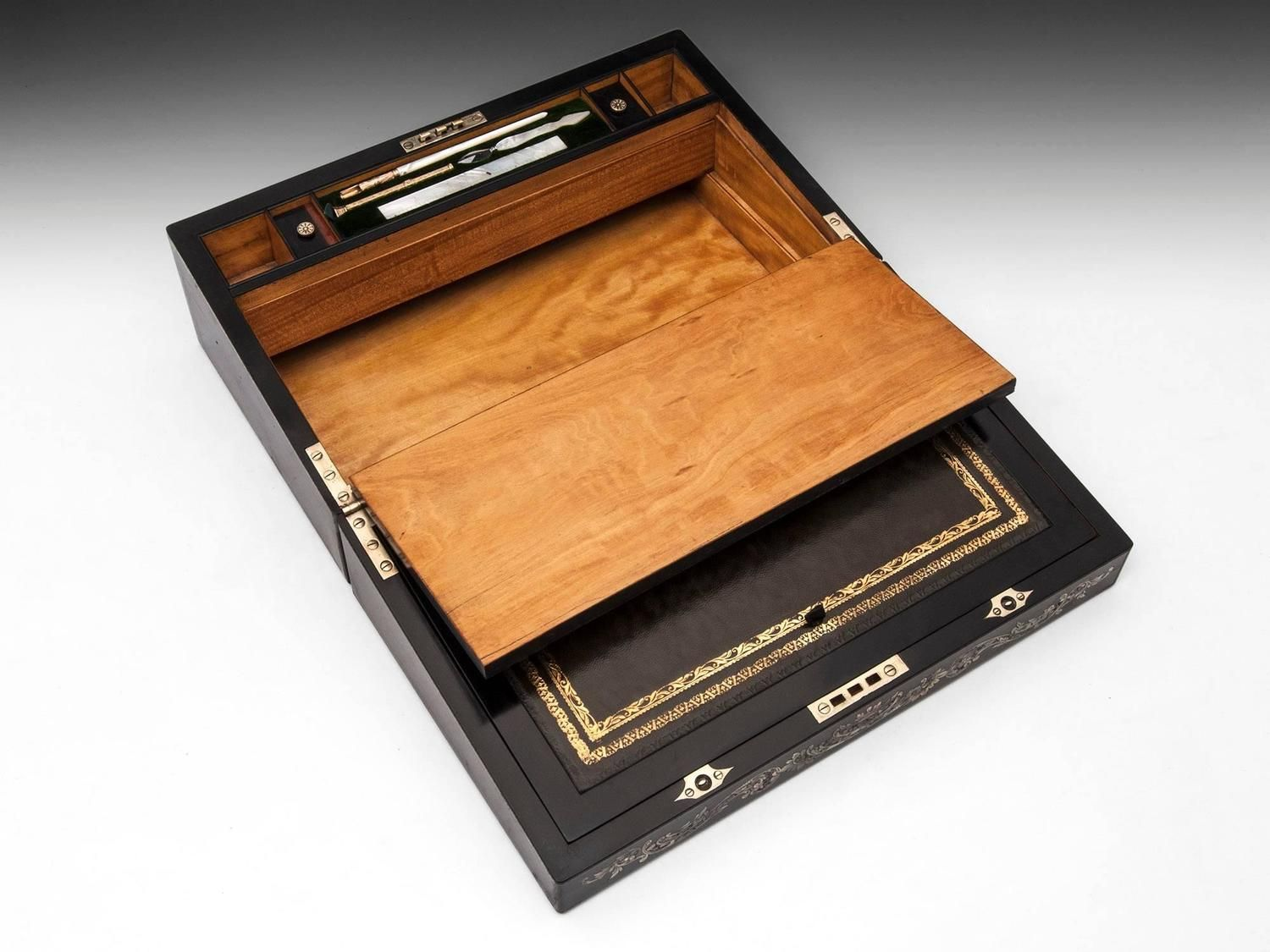 Hausberg Writing Box | From a unique collection of antique and modern boxes at https://www.1stdibs.com/furniture/decorative-objects/boxes/