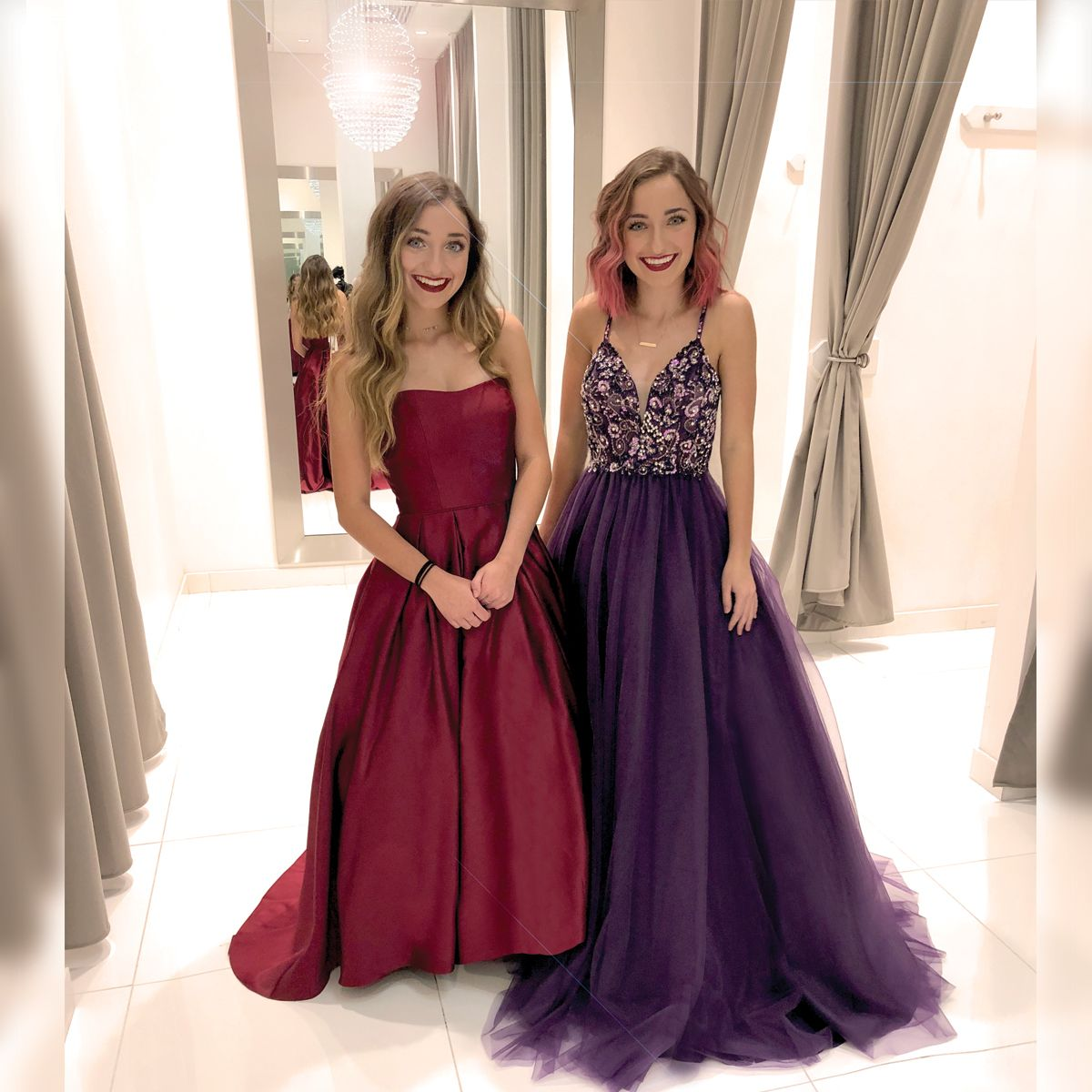 All Ready For #PROM18 👗 😍 Watch Brooklyn And Bailey Try On