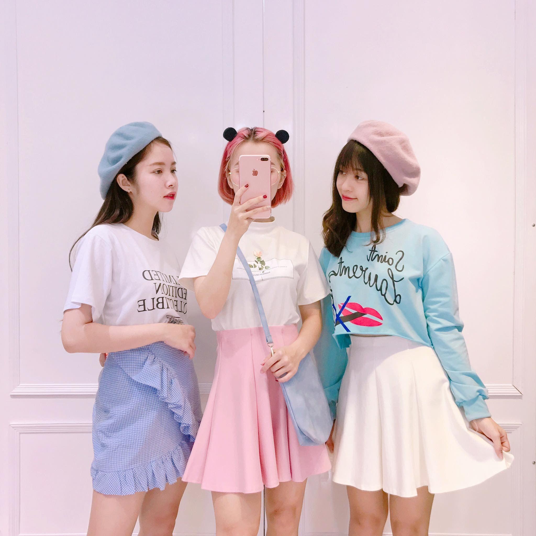 Pin oleh Tâm Đồ di BFF | Korean fashion pastel, Korean ...