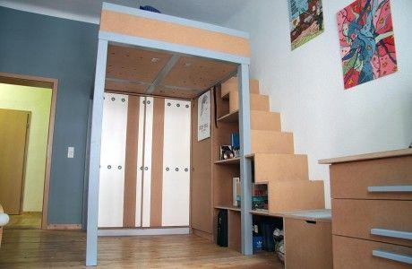 Etagenbett Mit Regal Treppe : Regaltreppe bunkbeds