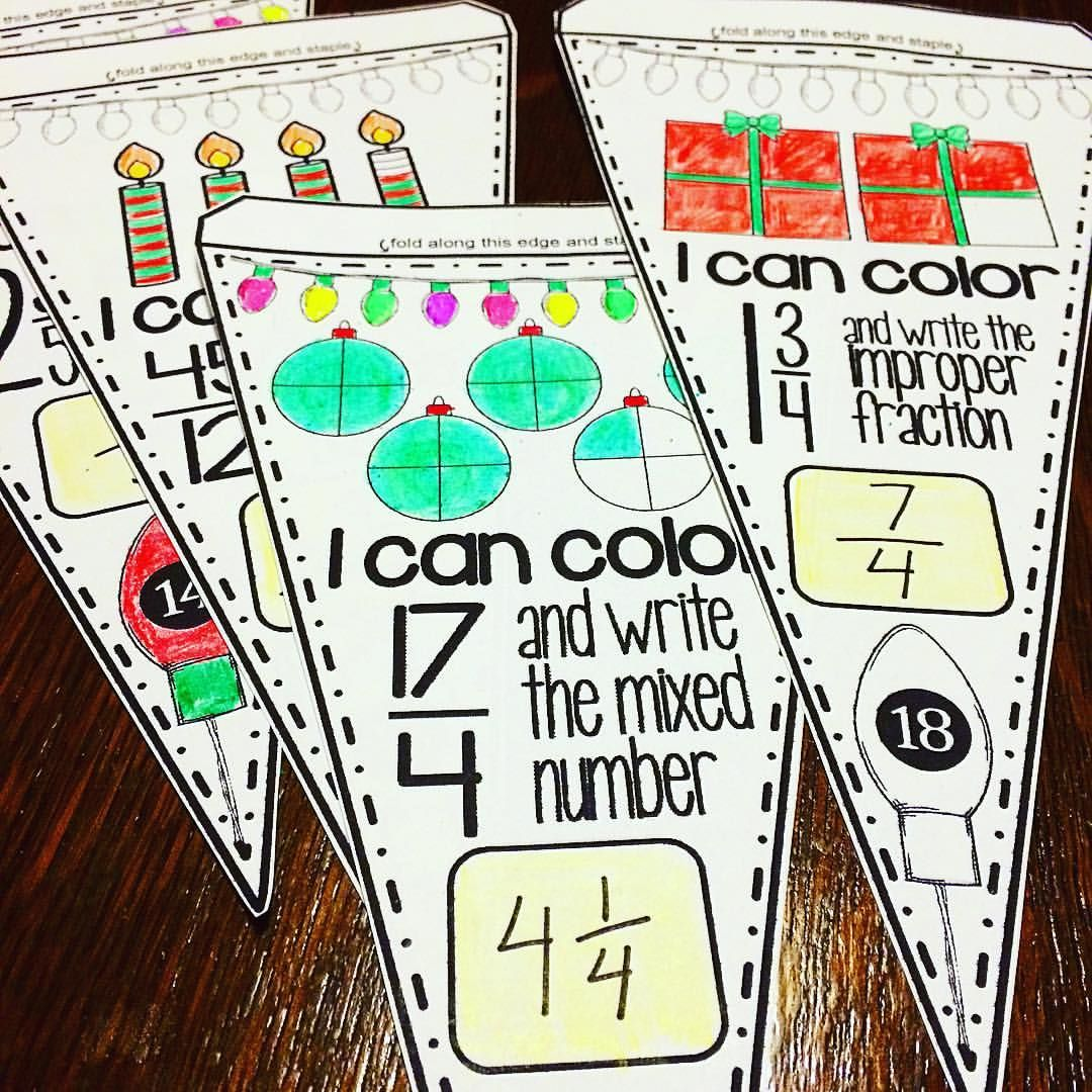 Students Convert Improper Fractions To Mixed Numbers And