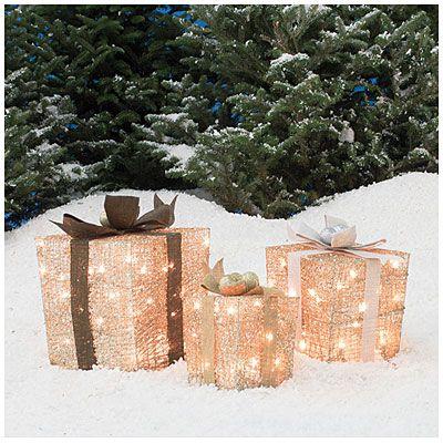 biglots glittering champagne gift boxes 3 pack at big lots - Big Lots Christmas Lawn Decorations