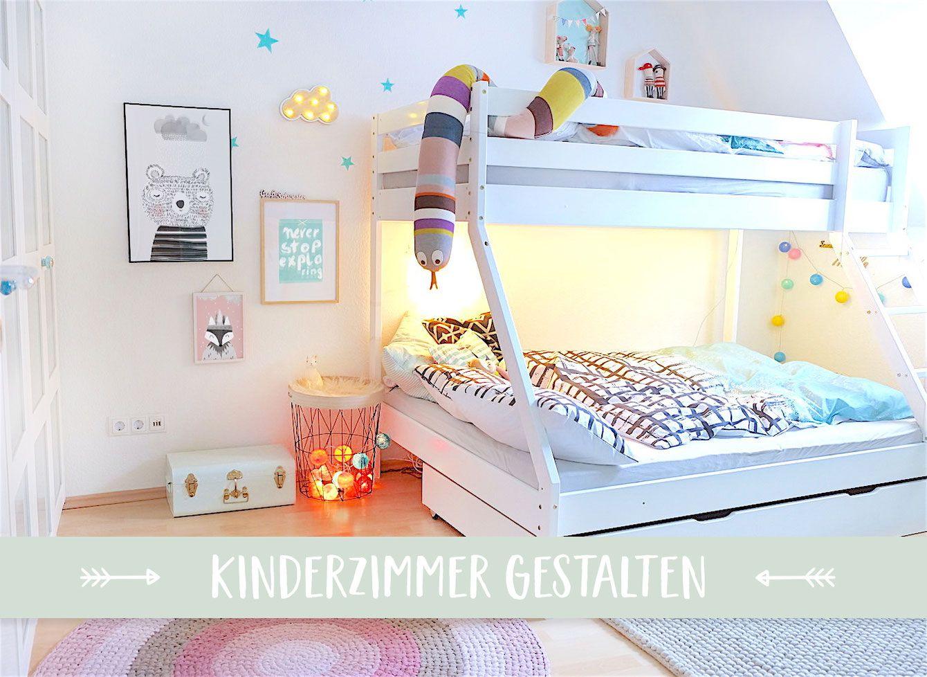 Lybstes Kinderzimmer! In Mint, Rosa, Weiß und Schwarz mit Hochbett ...