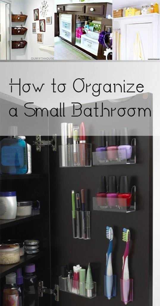 How To Organize A Small Bathroom Organization Diy Pinterest