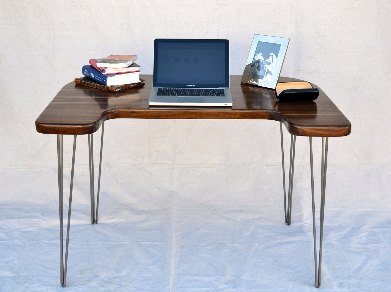 Desk Solid Black Walnut Mid Century Modern Modern Desk Modern Desk Chair Midcentury Modern