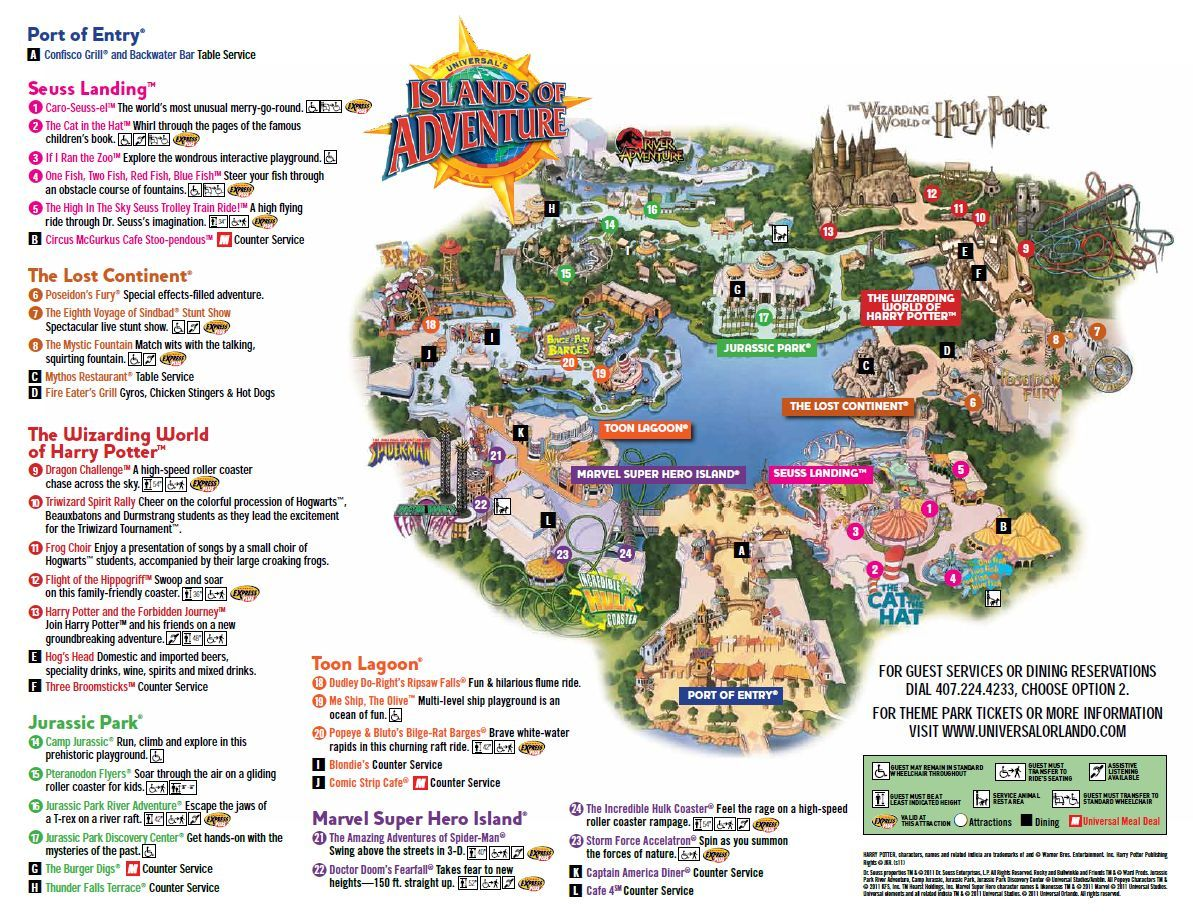 universal studios islands of adventure florida map