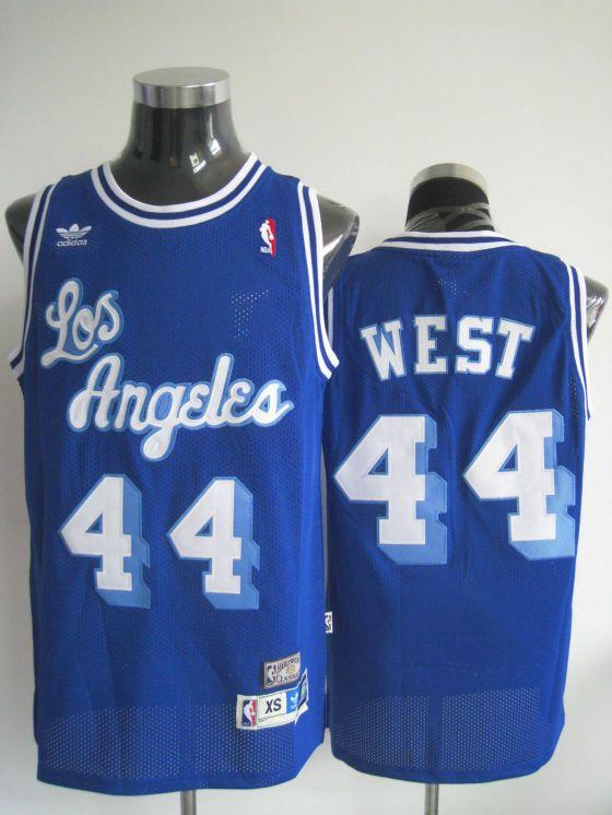 pretty nice b43ec 72316 Adidas NBA Los Angeles Lakers 44 Jerry West Swingman Blue ...