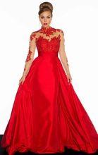 2016 El Más Nuevo Estilo Negro Rojo Balón vestido de Manga Larga de Zuhair Murad Vestido Del Novio de La Madre De La Novia Vestidos de noche Formal de Baile Vestido(China (Mainland))
