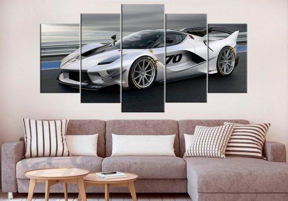 Ferrari Fxx K Supercar Car Canvas Wall Art