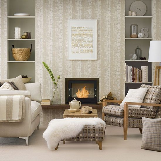 Neutral Living Room Ideas For A Cool Calm And Collected Scheme Best Living Room Wallpaper Neutral Living Room Wallpaper Living Room