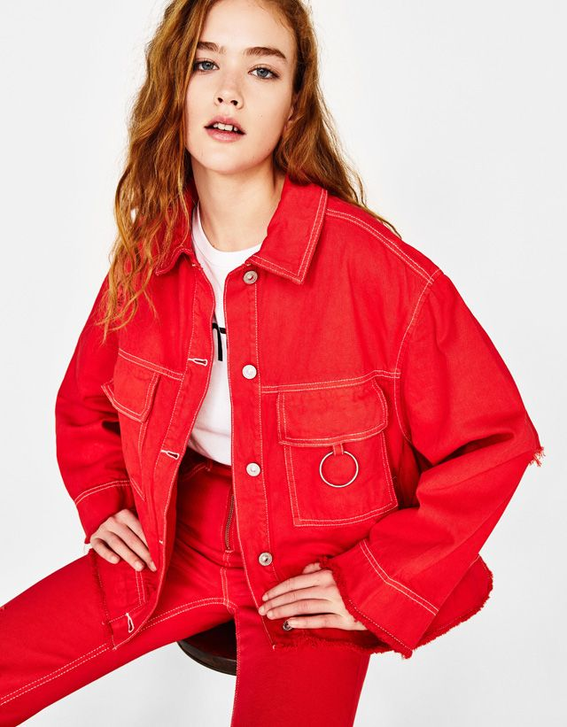 Denim Jacket With Ring Detail Women S Clothing Nugartzy In 2019