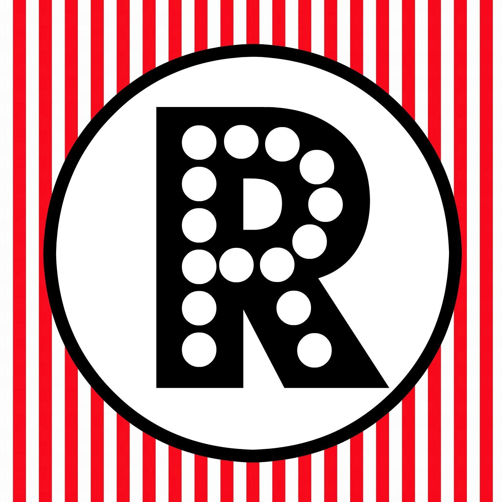 Free printable red black white polka dot happy birthday