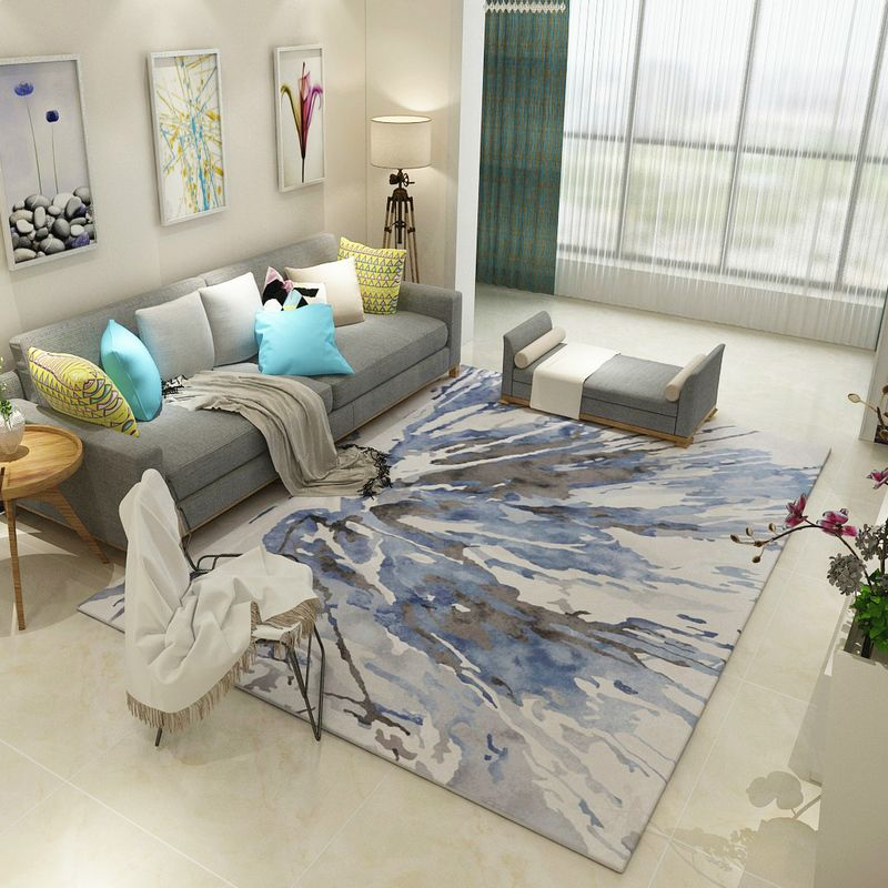 hotel decoration parlor area rugs washable mat abstract carpet living room cartoon decoration carpets