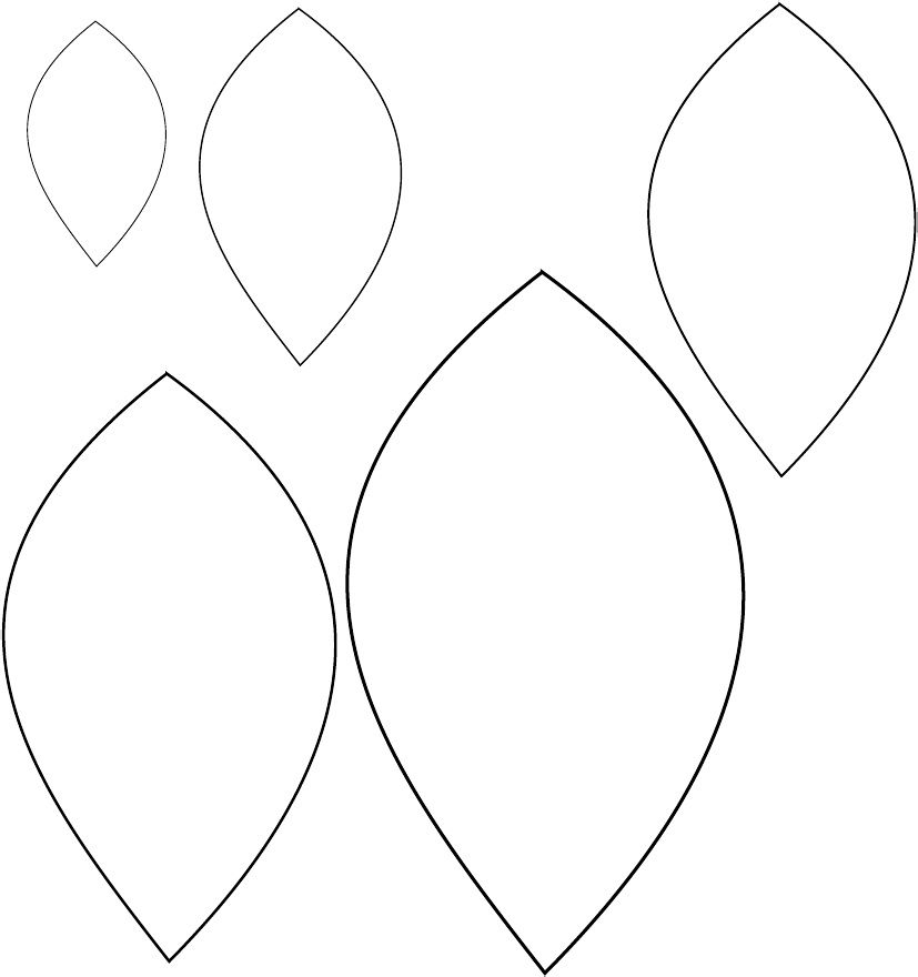 Printable Leaf Template | Scribd | Patterns | Pinterest