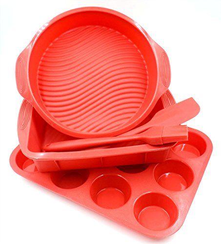 Best Kitchen Cart Silicone Bakeware Set 5piece Nonstick Silicone