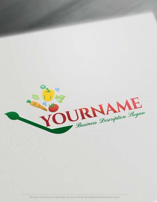 Make Healthy Greenery Logo design with Free Logo Creator Free logo - work schedule creator free