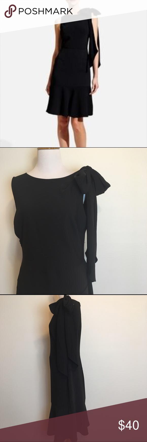 The limited black bow shoulder dress sophie theallet the limited