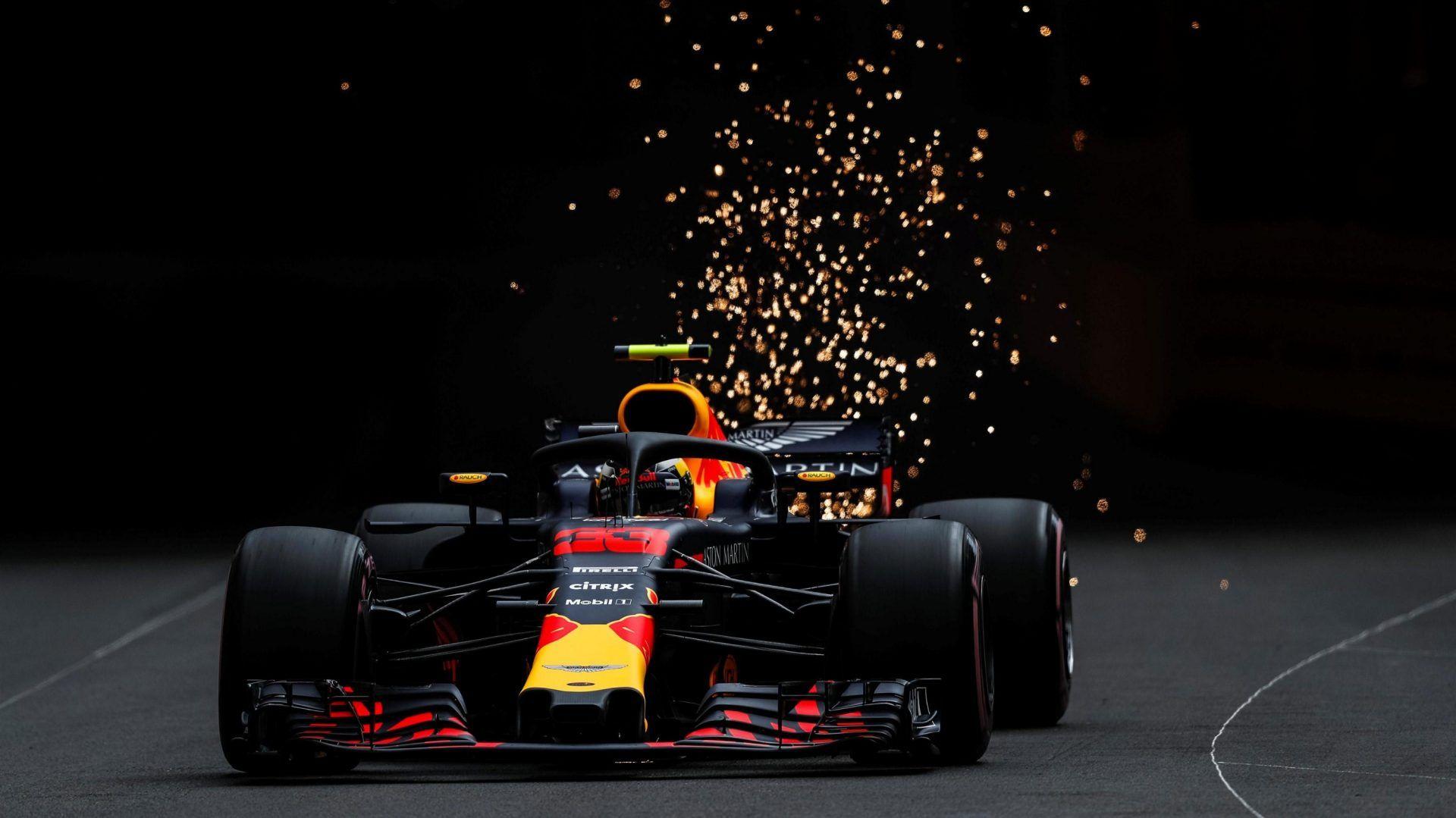 Red Bull Racing F1 2019 Ultra Hd Desktop Background: Max Verstappen Red Bull Racing RB14 Practice At Monaco