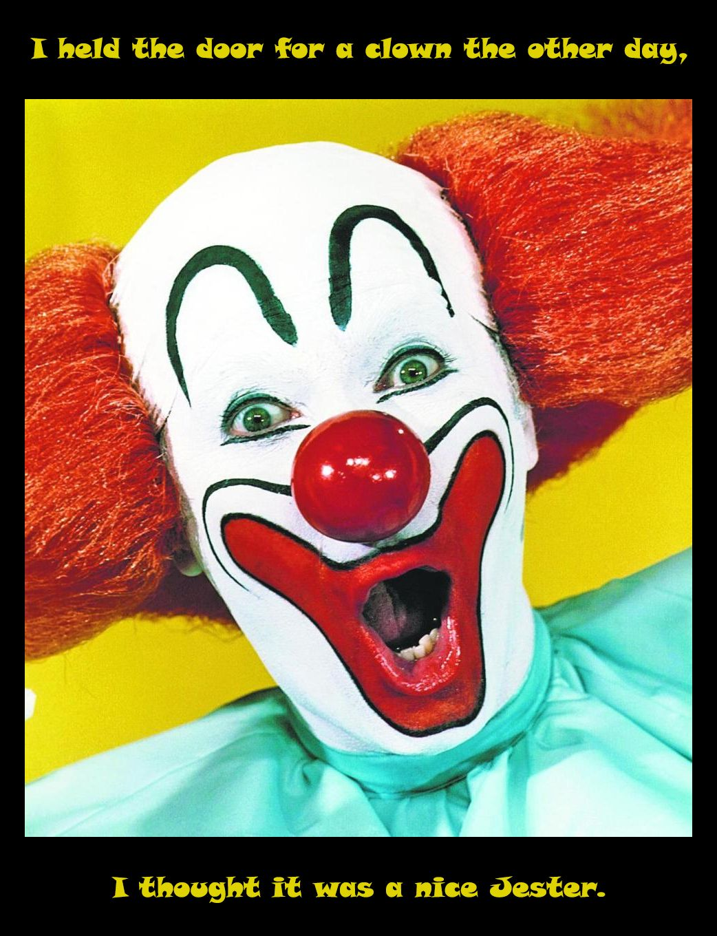 Clown Pun Clown puns, Evil pictures, Clown faces