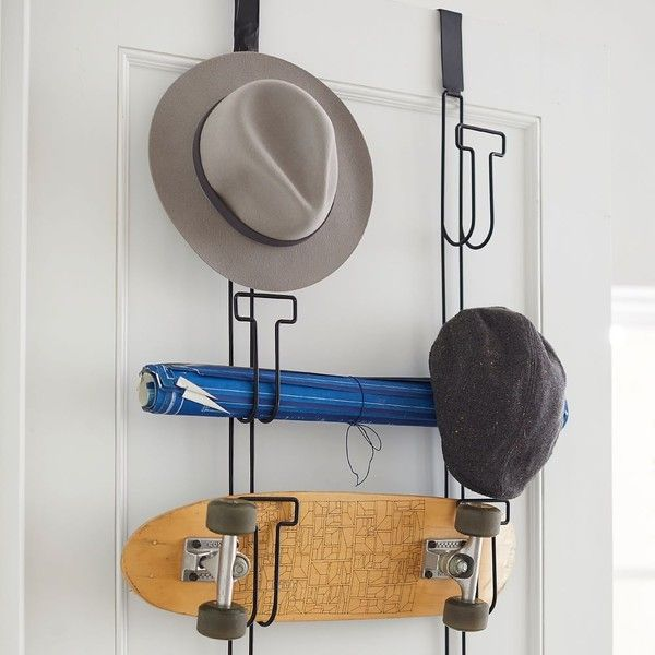 Over The Door Hat Rack Unique Pb Teen Over The Door Hat Rack Black $29 ❤ Liked On Polyvore Inspiration Design