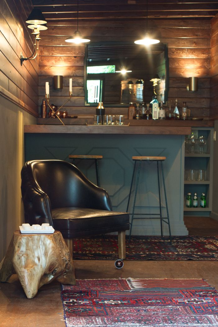 The Fort Mancave Emily Henderson Diy Home Bar Home Bar Rooms Pub Interior