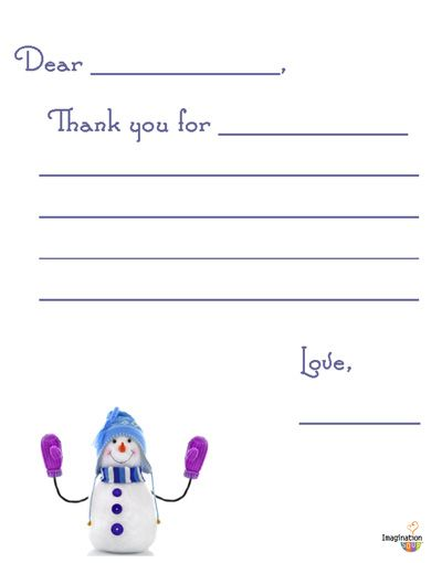 17 Best images about Printable kids thank you notes on Pinterest ...