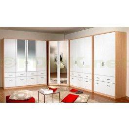 Cool  Rauch Furniture Bremen Door Corner Wardrobe with Mirror