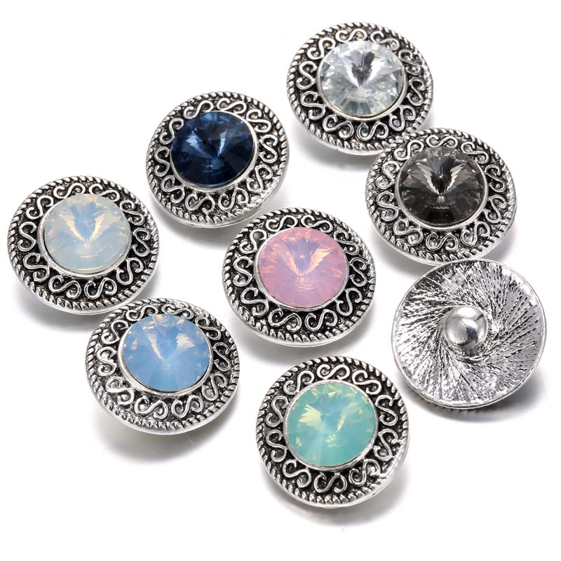 Aliexpress.com : Buy 10pcs/lot 2016 New 18mm Nossa Snap Buttons Jewelry Mixed Style Rhinestone Glass Metal Snap Charms Fit Snap Bracelets for Women from Reliable bracelet silver suppliers on Mrs Win Jewelry Store