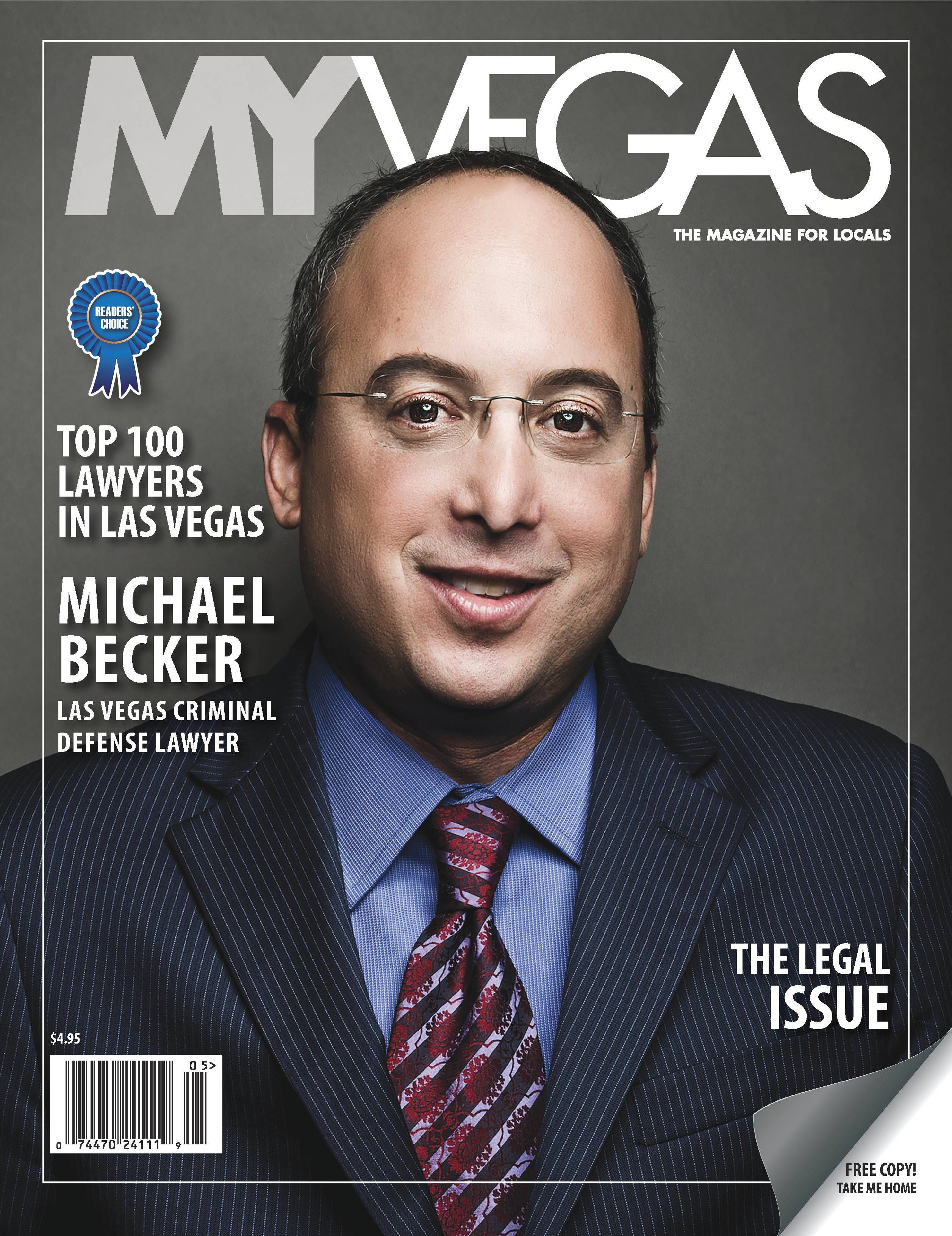 Las Vegas Defense Group Attorney Michael Becker Lands Cover Of