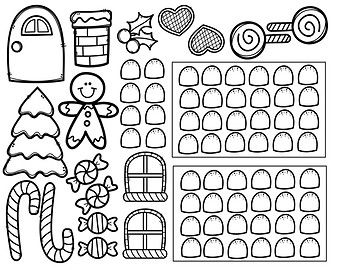 Image result for gingerbread house template for paper bag