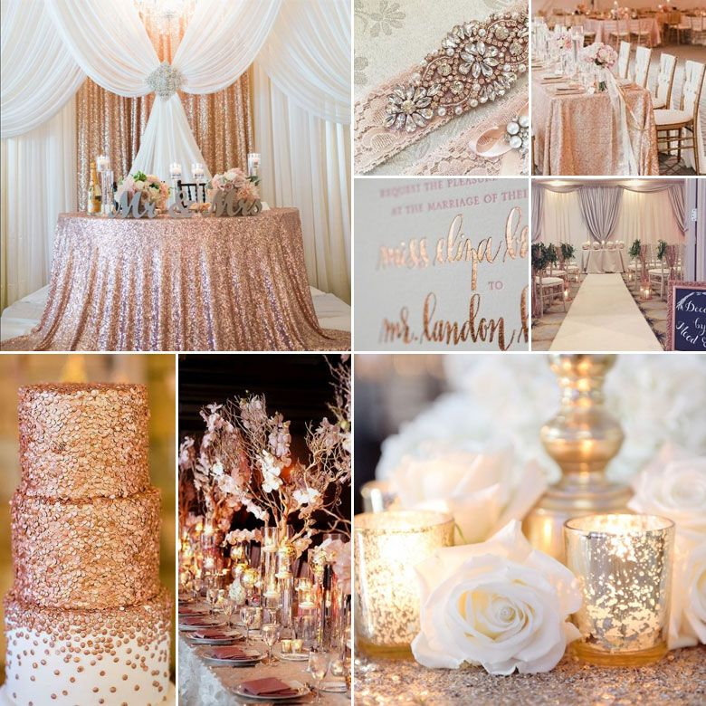 Rose Wedding Ideas: Rose Gold, Silver And White Wedding