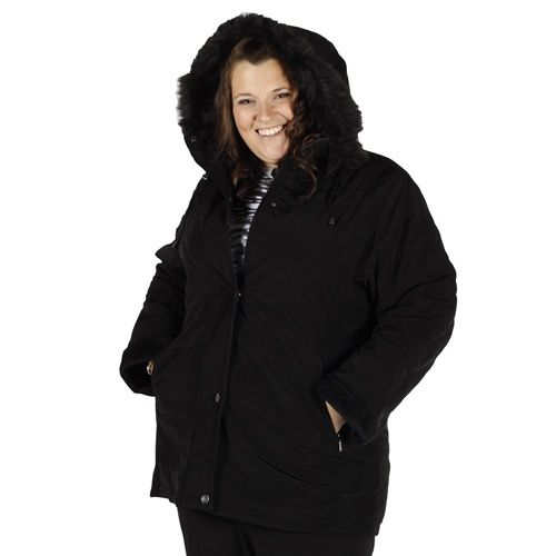 Plus Size Winter Coats | Plus Size Jacket Black Winter Coat ...