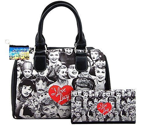 I Love Lucy Collage Medium Satchel Handbag Wallet Set Lu Https Www Dp B016seernc Ref Cm Sw R Pi X Zni Yb09h0a52
