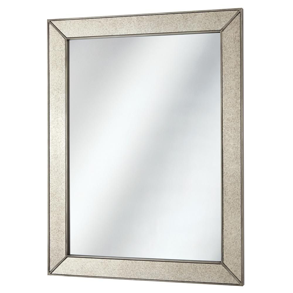 Home Decorators Collection 23 In X 30 In Framed Fog Free Wall Mirror In Silver 45378 The Home Depot Mirror Framed Mirror Wall Mirror Interior Design