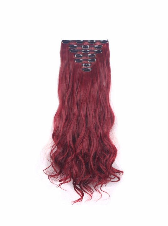 Red Hair Extensions Clip In Extensions 24 By Onesixtyaccessories