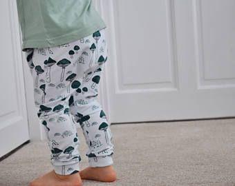 c0624865b Hainmade UK, Enchanted Toadstool harem leggings, baby leggings, toddler  leggings, unisex baby leggings, baby clothes, handmade leggings