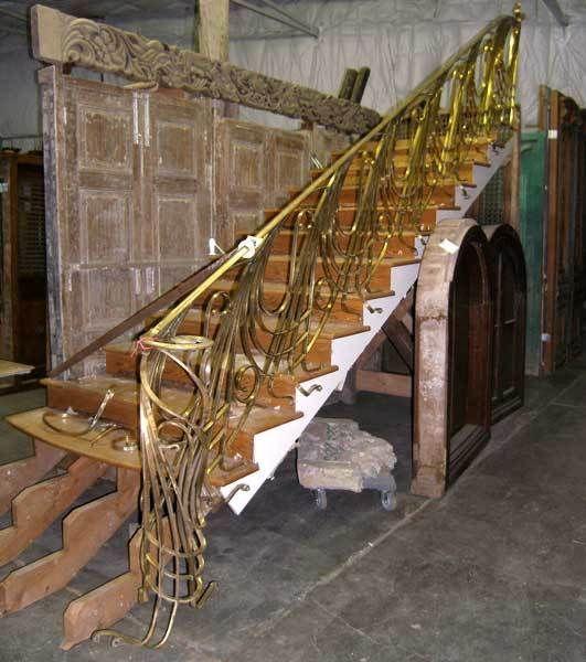 Rare Art Nouveau Style Bronze Stairway/Case Railing Banister Vintage 1900
