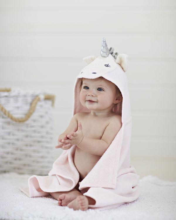 Elegant Baby Unicorn Bath Wrap Cotton Machine Wash Imported