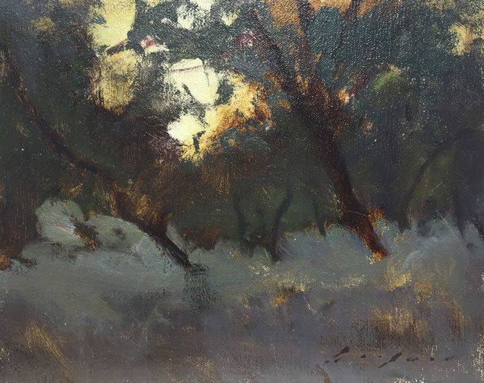 "Twighlight Oaks by Simon Addyman Oil ~ 8"" x 10"""