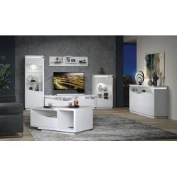 Photo of Tv – Unterschrank Patamea 03, Farbe: Weiß Hochglanz – 48 x 180 x 50 cm (H x B x T) Steinersteiner