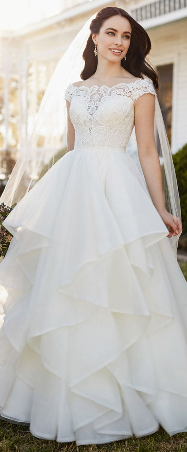 Alluring Tulle & Organza Sweetheart Neckline A-Line Wedding Dress ...