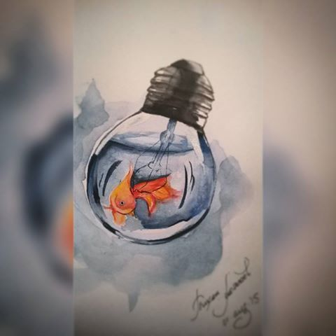 #fish #gold #goldfish #art #artist #light,  #art #artist #Fish #Gold #goldfish #Light
