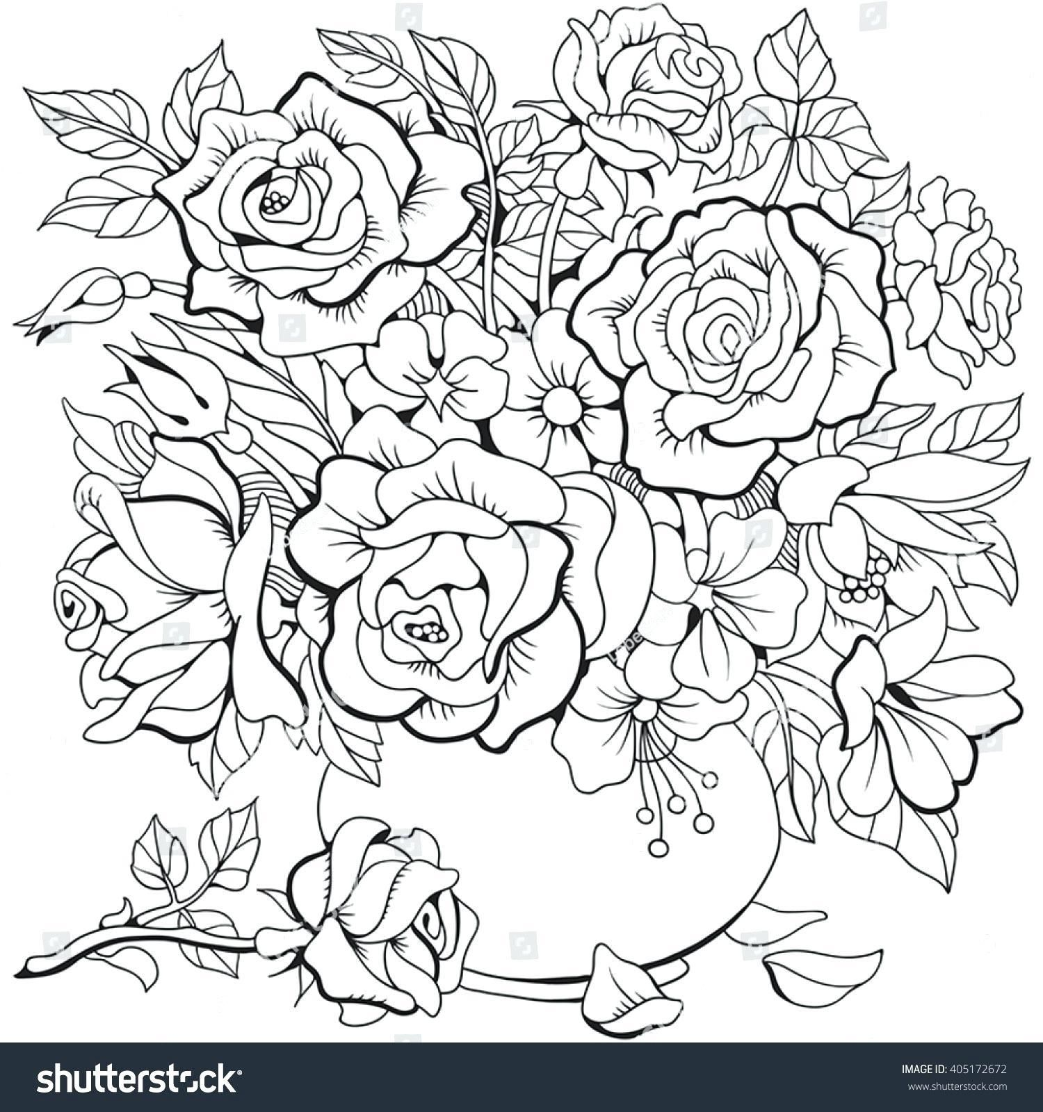 10 Coloring Page With Flowers Flower Coloring Pages Coloring Pages Mothers Day Coloring Pages
