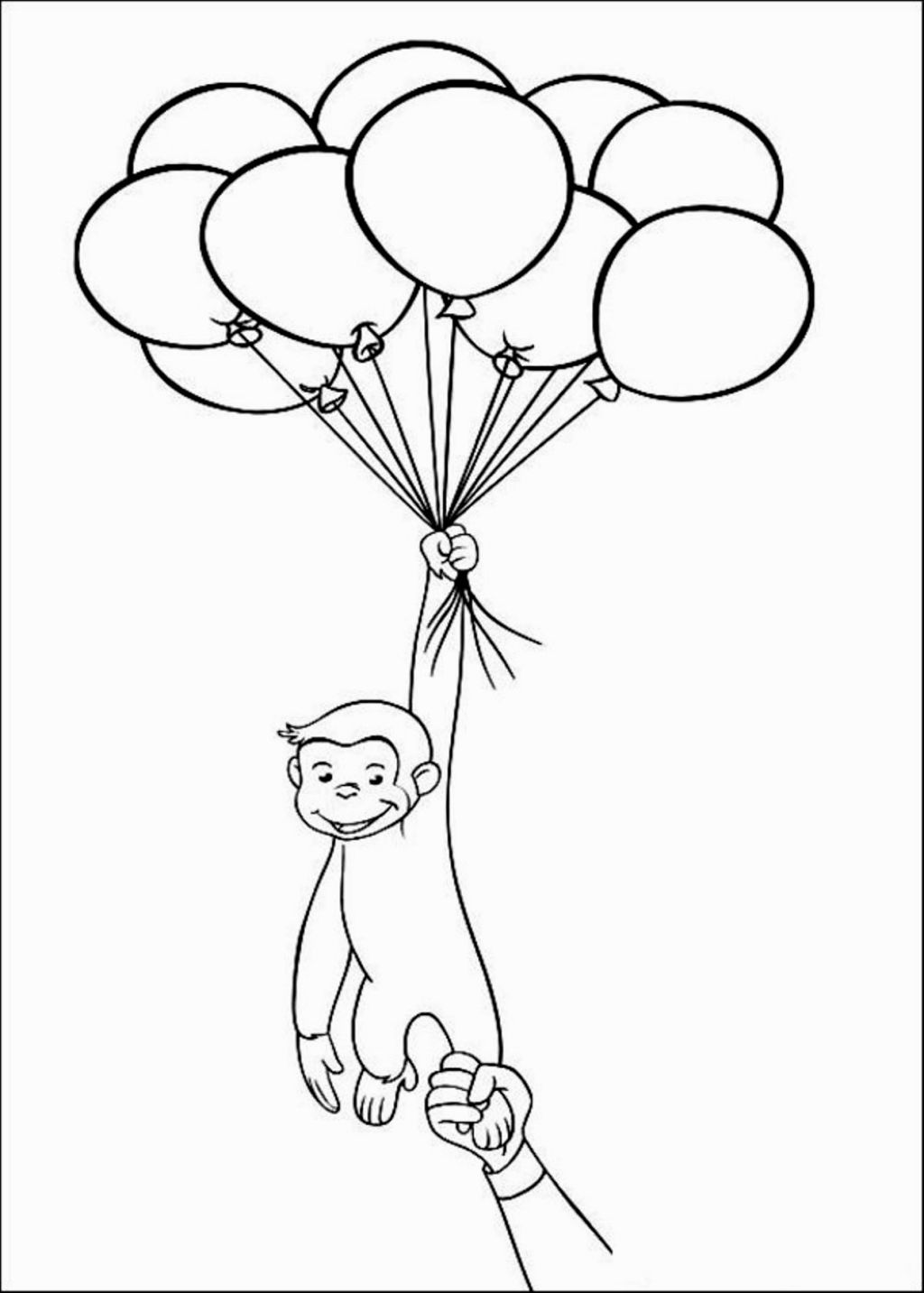 Curious George Coloring Pages | Coloring Pages | Pinterest | Curious ...