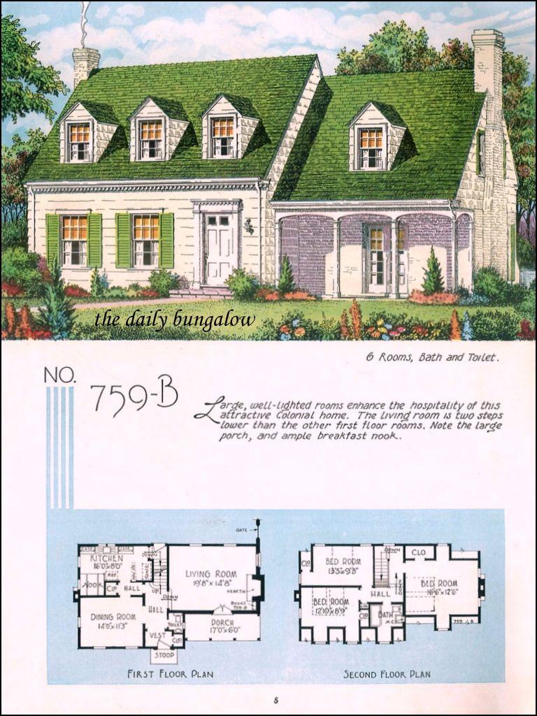 1935 National Plan Service Sims House Plans Sims House Design Vintage House Plans