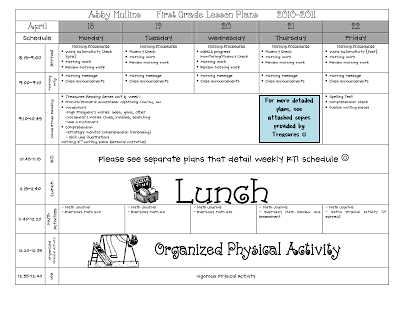 daily five lesson plan template - my daily schedule lesson plans for first grade daily 5